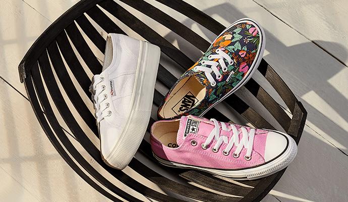 Bunte Canvas-Sneaker für Damen